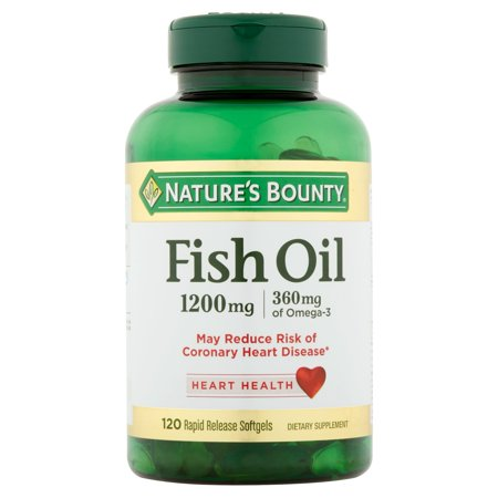 Nature 39 s bounty fish oil 1200 mg with 360 mg omega 3 120 for Nature bounty fish oil