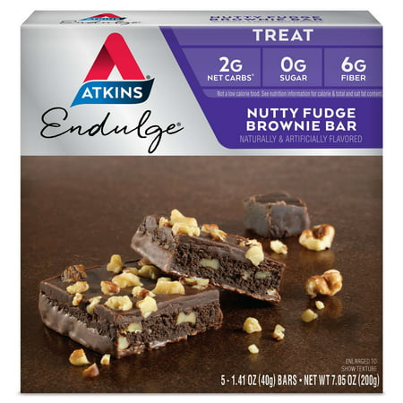 Atkins Endulge Nutty Fudge Brownie, 1.4oz, 5-pack (Treat)