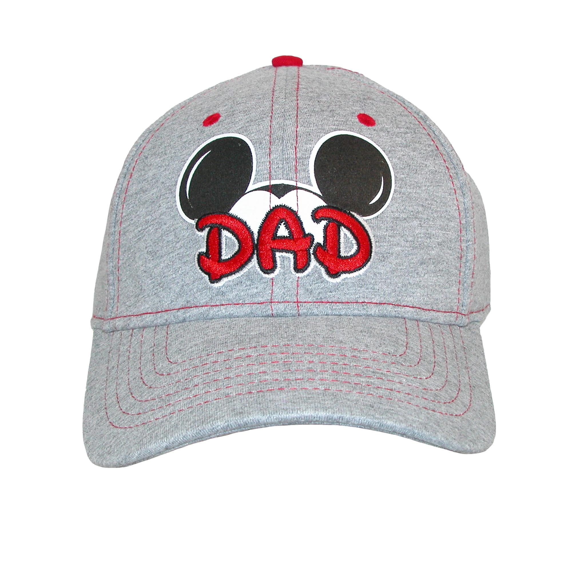 a2d357d1e8979 Disney Men s Cotton Mickey Mouse Dad Fan Baseball Cap