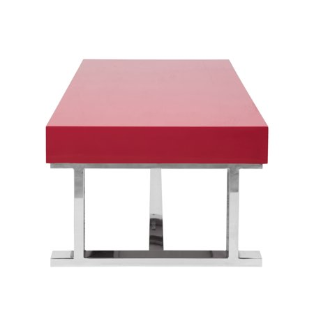 Luster Contemporary Coffee Table in Red by LumiSource