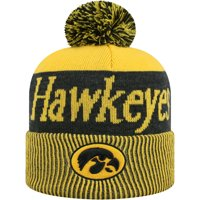 Women's Russell Athletic Gold/Black Iowa Hawkeyes Frore Cuffed Knit Hat With Pom - OSFA