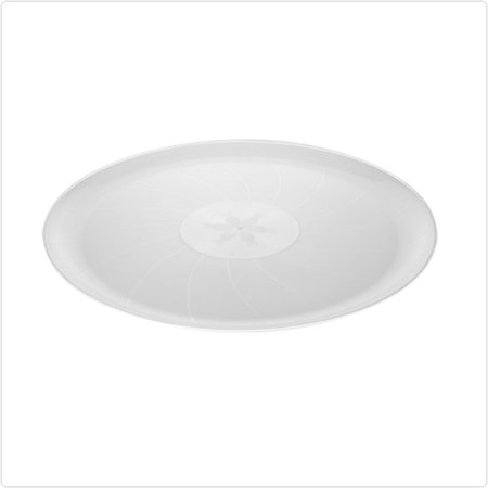 Clear 12 Inch Classic Plastic Round Trays/Case of 25