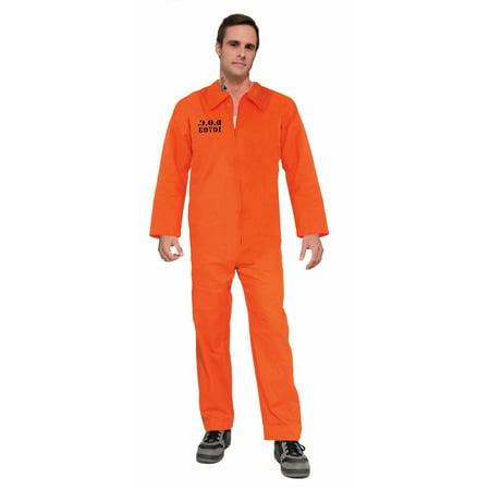 Halloween Prisoner Orange Jumpsuit Adult Costume - Prisoner Halloween Costumes For Dogs