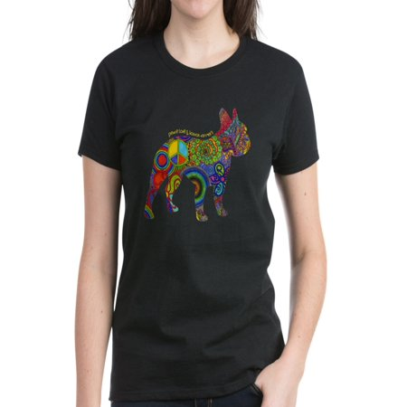 CafePress - Peace Love Boston Terriers - Women's Dark T-Shirt