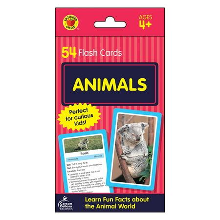 Animals Flash Cards : 54 Flash (Animal Lacing Cards)
