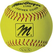 """MacGregor X44RE 11"""" Slow-Pitch Softball, Yellow"""