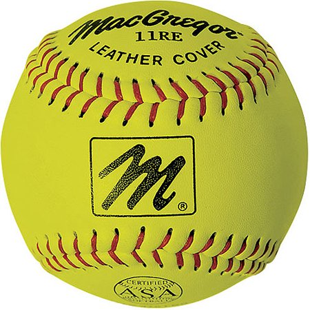 "MacGregor X44RE 11"" Slow-Pitch Softball, Yellow"