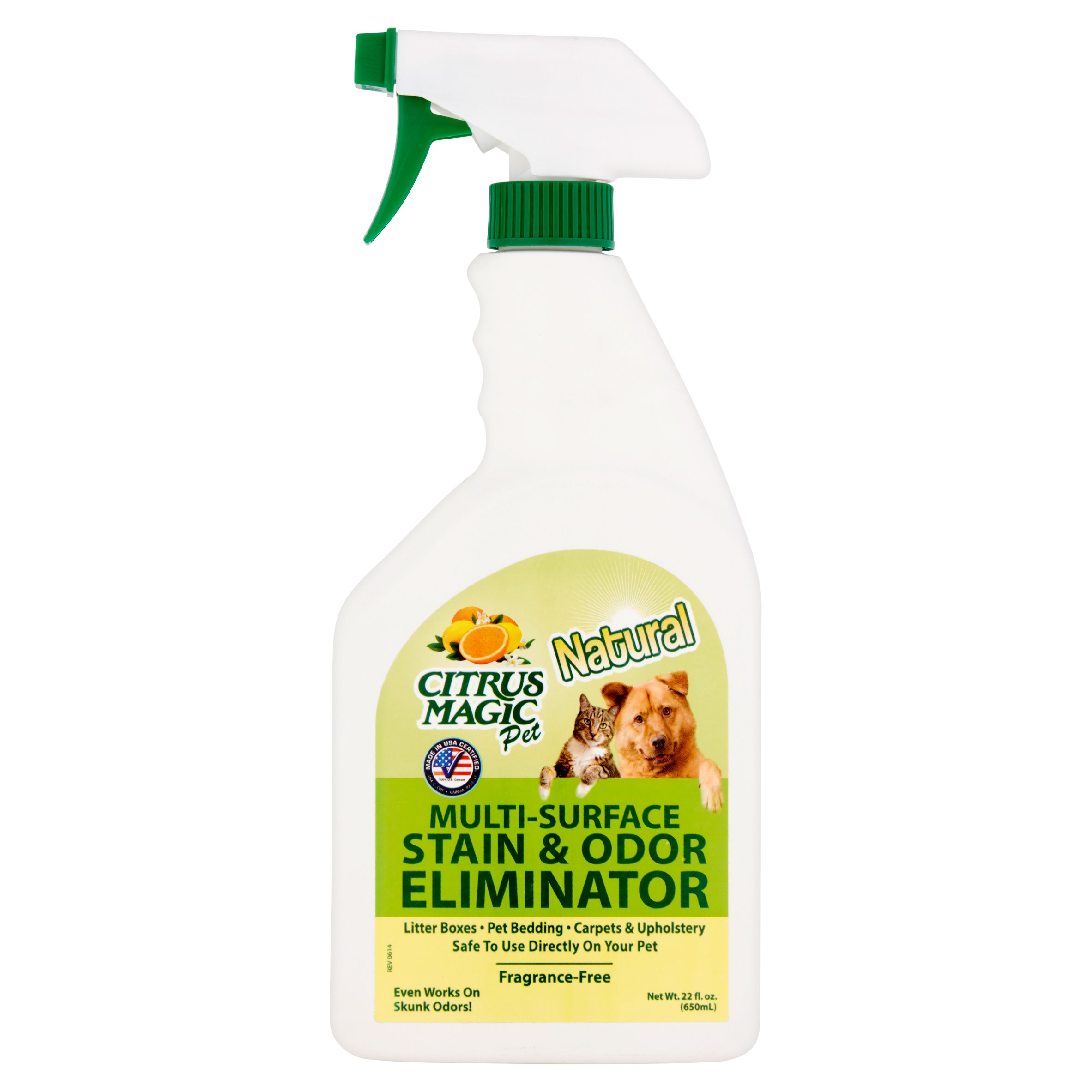 Citrus Magic Pet Natural Multi-Surface Stain & Odor Eliminator, 22 fl oz