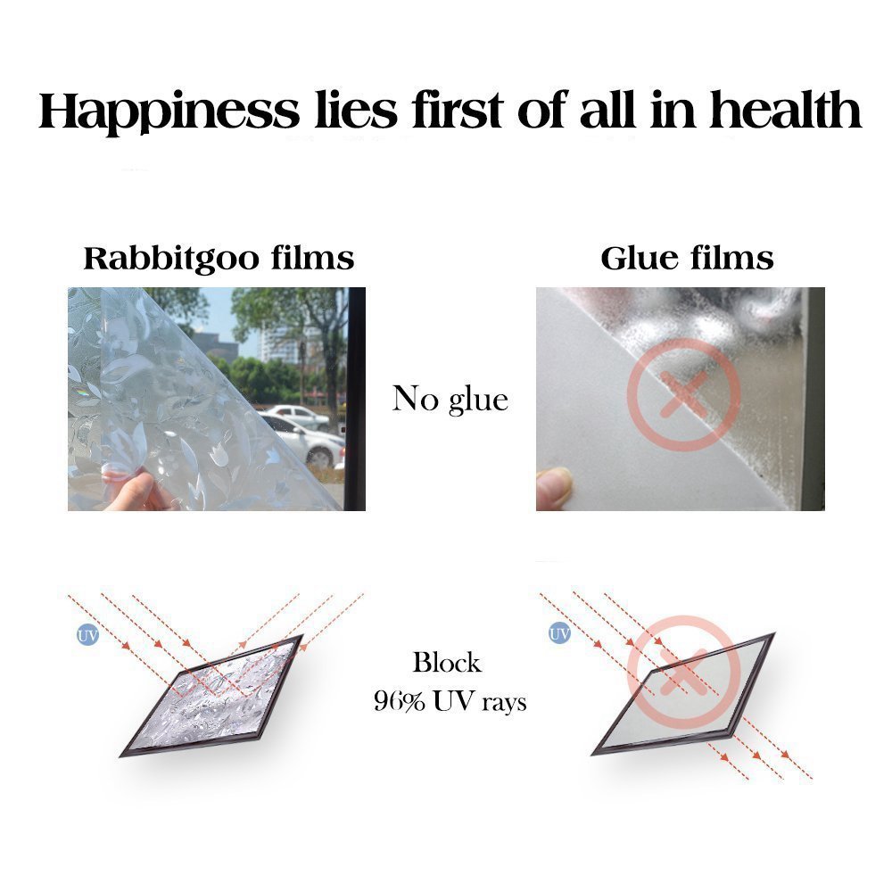 3d window films privacy film decorative flower film sticker for door window glass 17 5 x 78 7 no glue static cling self adhesive peel and stick heat