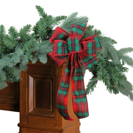 Northlight 6 Loop Plaid Christmas Bow Decoration