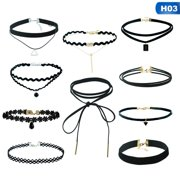 1 Set New Gothic Lace Pu Leather Tattoo Choker Necklaces for Women Collar Party Jewelry Neck Accessories Chokers
