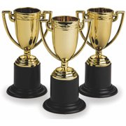 """4"""" Gold Trophy, Pack of 12"""