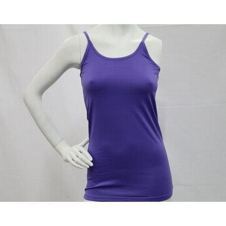 K. Jordan Women's Dressy Cami In Purple - 1X