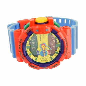 Shock Resistant Sports Watch Kids Editions Multi Color Funky Look Digital Analog