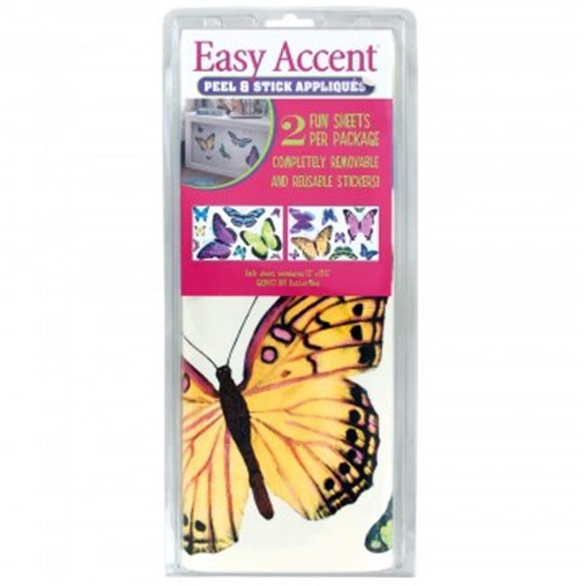 Bulk Buys HG923-32 Butterflies Peel & Stick Appliques - 32 Piece
