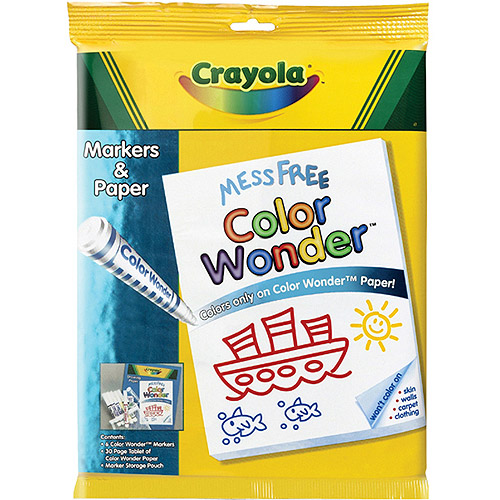 Crayola Color Wonder Marker And Paper Set Walmart Com