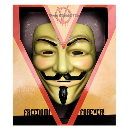 Morris Costumes RU3700 V for Vendetta Deluxe - V For Vendetta Mask Costume