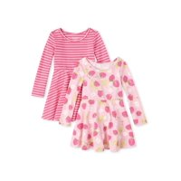 2-Pack The Children's Place Baby & Toddler Girl Long Sleeve Printed Dresses