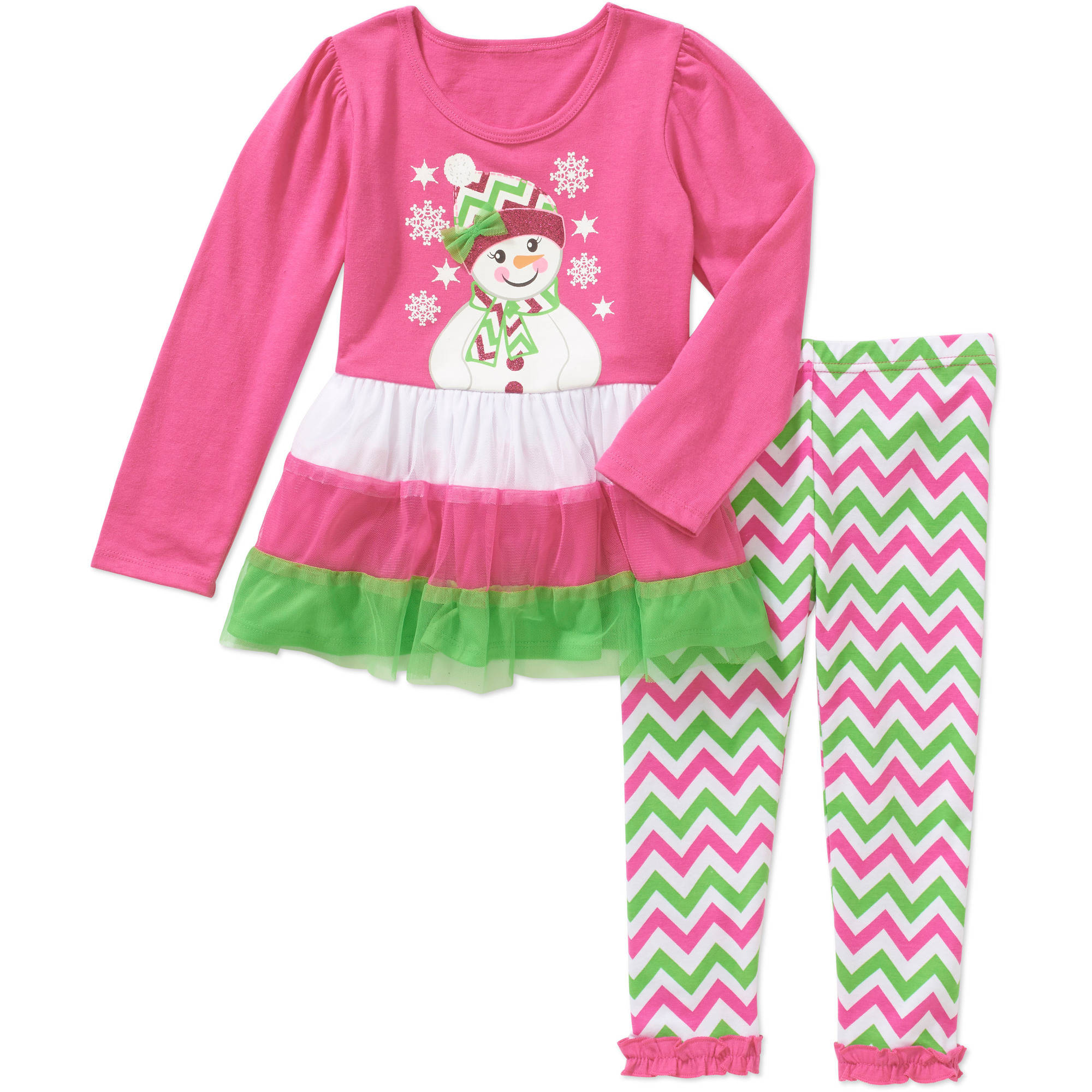 Healthtex Toddler Girls' Holiday Long Sleeve Top & Leggings Outfit