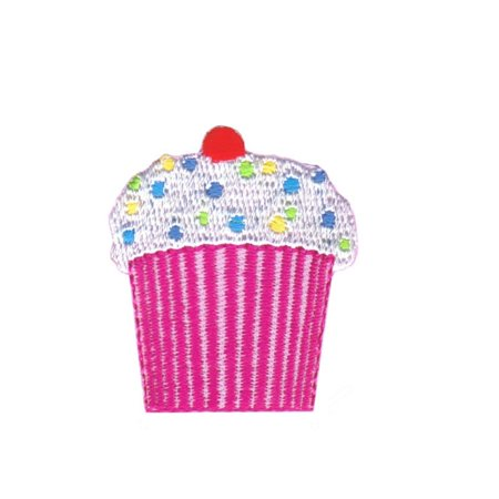 Decorated Cupcake Patch Birthday Bakery Pastry Iced Embroidered Iron On - Embroidered Cupcake