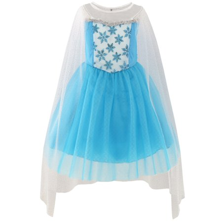 Girls Dress Elsa Princess Costume Party Birthday 3](Elsa Costume 7 8)