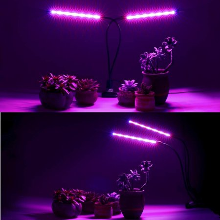LED Grow Light Full Spectrum Plant Lamp Dual Three Head for Indoor Greenhouse Grow Tent Plants Grow Light with USB Adapter - image 3 de 18