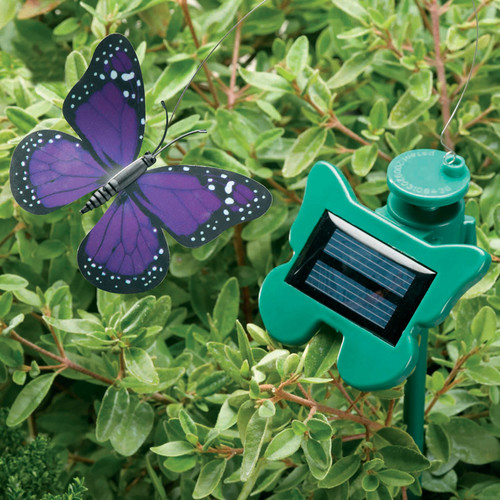 Smart Solar Flutterby Butterfly Garden Stake (Set of 2)