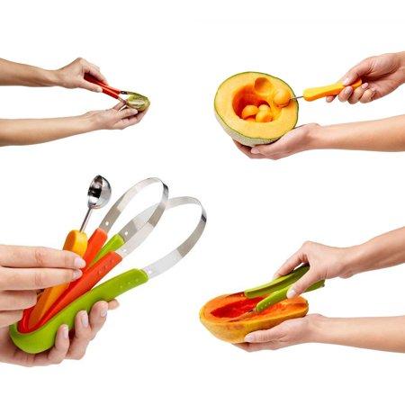 - Super Scooper 3 In 1 Fruit Scooper & Melon Baller