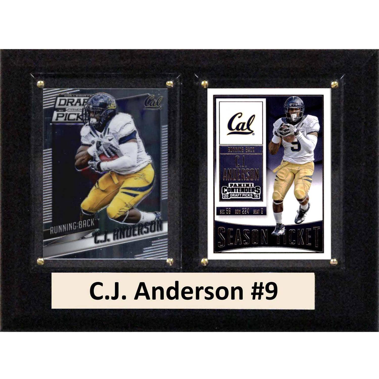 "C & I Collectables NCAA 6"" x 8"" C.J. Anderson California Golden Bears 2 Card Plaque"
