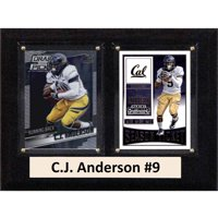 "C & I Collectables NCAA 6"" x 8"" C.J. Anderson California Golden Bears 2 Card Plaque"