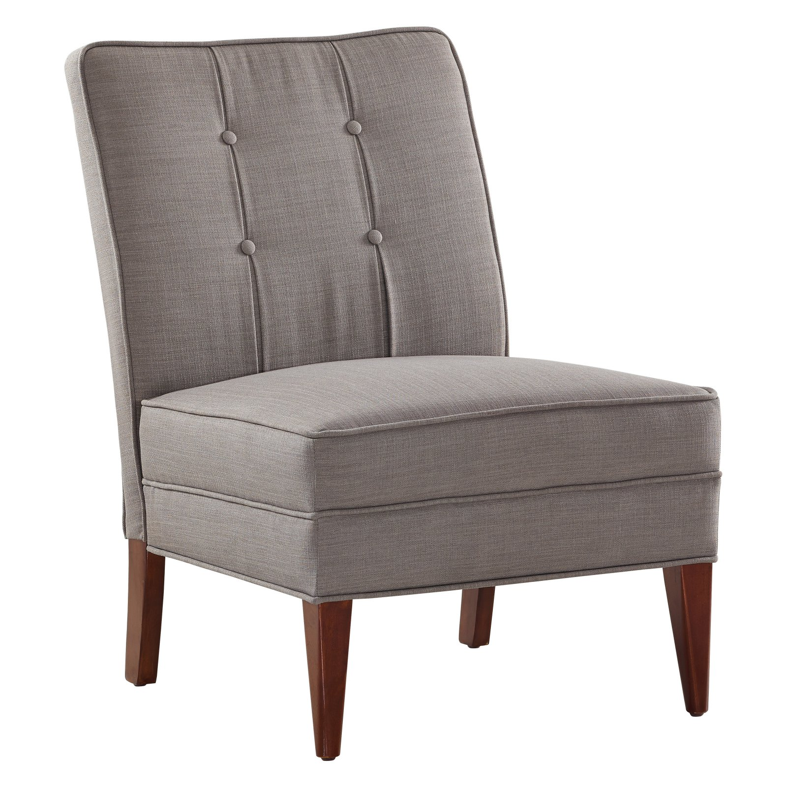 Linon Carmen Tufted Slipper Chair, 17.75 inch Seat Height, Multiple Colors
