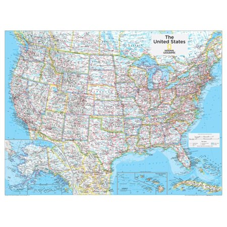 2014 United States Political - National Geographic Atlas of the World, 10th Edition Map Print Wall Art By National Geographic