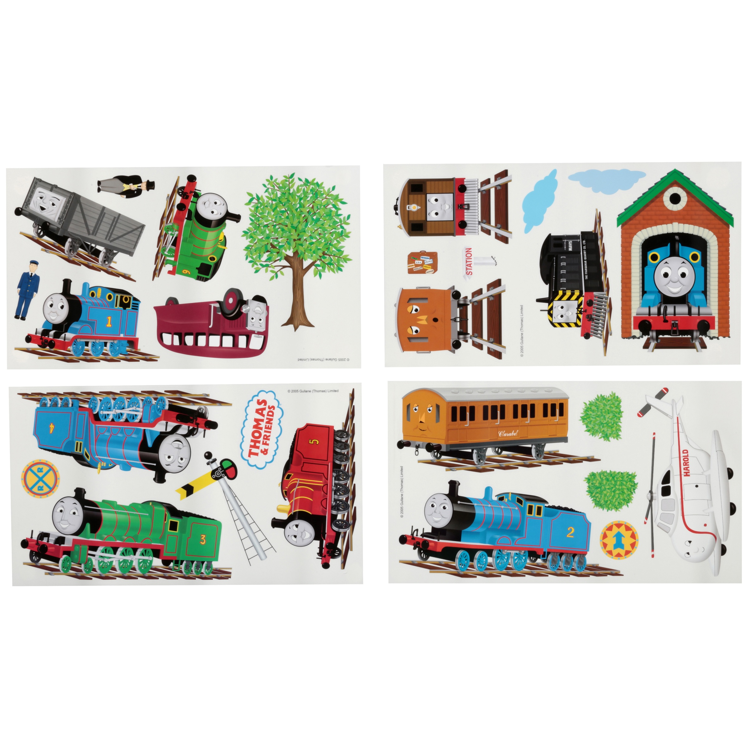 Thomas & Friends Peel and Stick Wall Decals 27 ct Pack