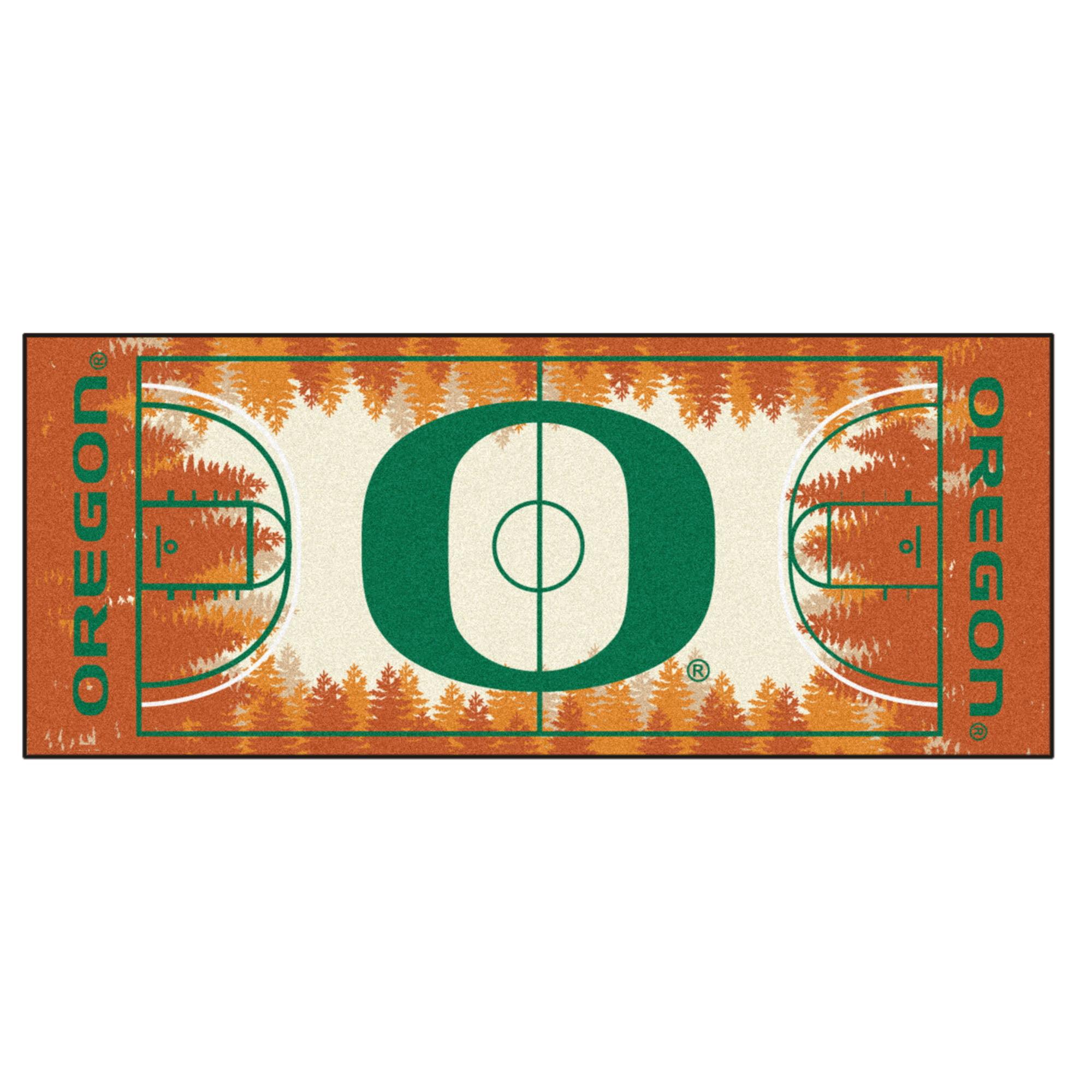 "Oregon Basketball Court Runner 30""x72"""