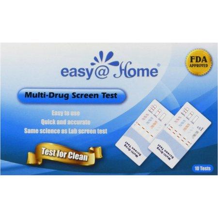 Easy@Home 10 Panel EDOAP-3104 Multi-Drug Screen Test, 10 count