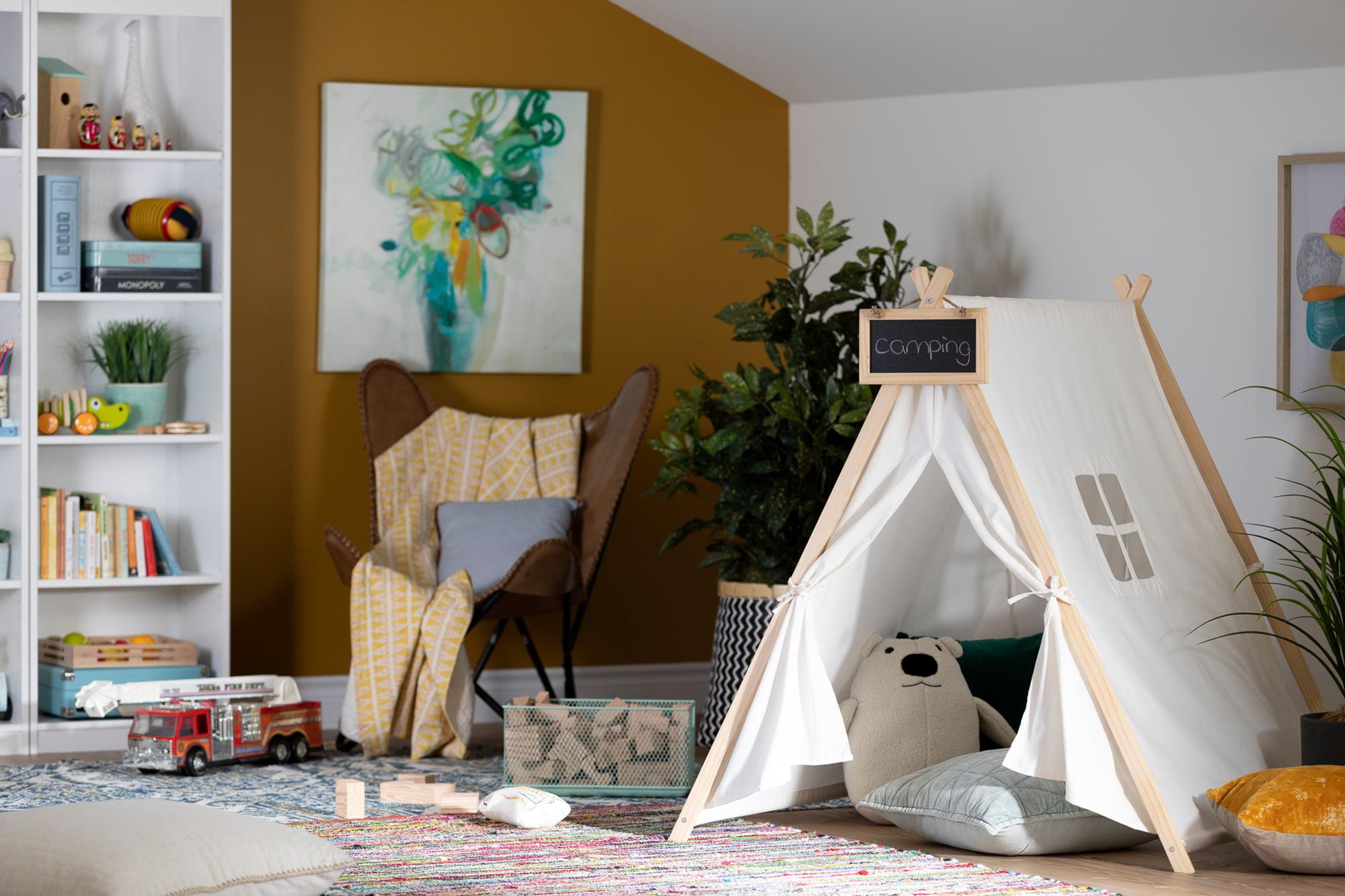 South Shore Sweedi Organic Cotton And Pine Play Tent With Chalkboard Walmart Com Walmart Com