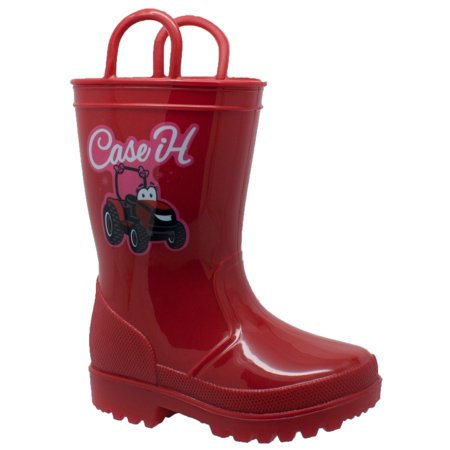 Case IH  Children's PVC Boot with Light-Up Outsole Red - Diy Galaxy Boots