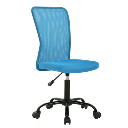 Peachy Mesh Office Chair With Ergonomic Lumbar Support Cheap Desk Chair Computer Adjustable Swivel Rolling Chair For Homeoffice Blue Beatyapartments Chair Design Images Beatyapartmentscom