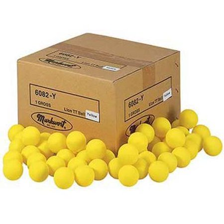 yellow lion table tennis practice balls 1 gross