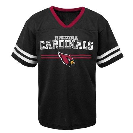 Youth Black Arizona Cardinals Mesh V-Neck T-Shirt (Arizona Cardinals Party Supplies)