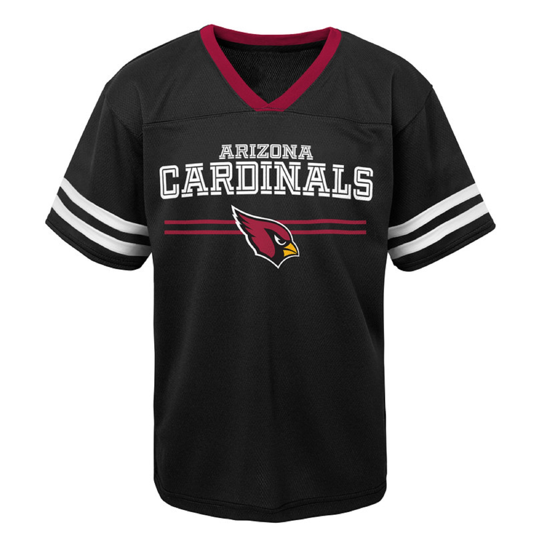 Youth Black Arizona Cardinals Mesh V-Neck T-Shirt