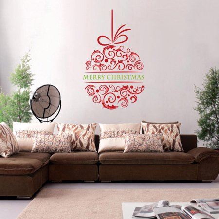 - Iuhan Merry Christmas Household Room Window Wall Sticker Mural Decor Decal Removable