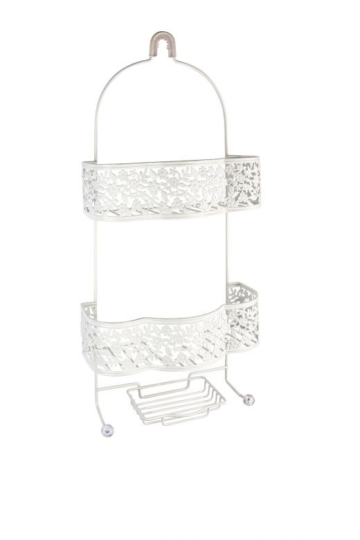 Petite Flower Shower Caddy in White by Taymor