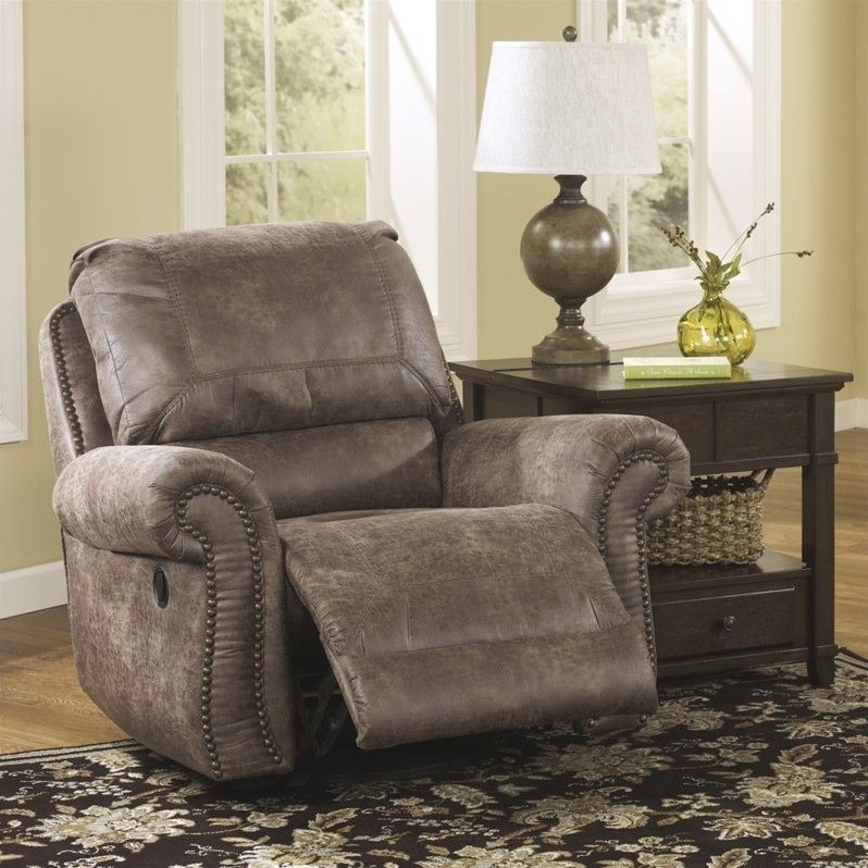Ashley Furniture Oberson Swivel Glider Recliner in Gunsmoke & Ashley Furniture Oberson Swivel Glider Recliner in Gunsmoke ... islam-shia.org