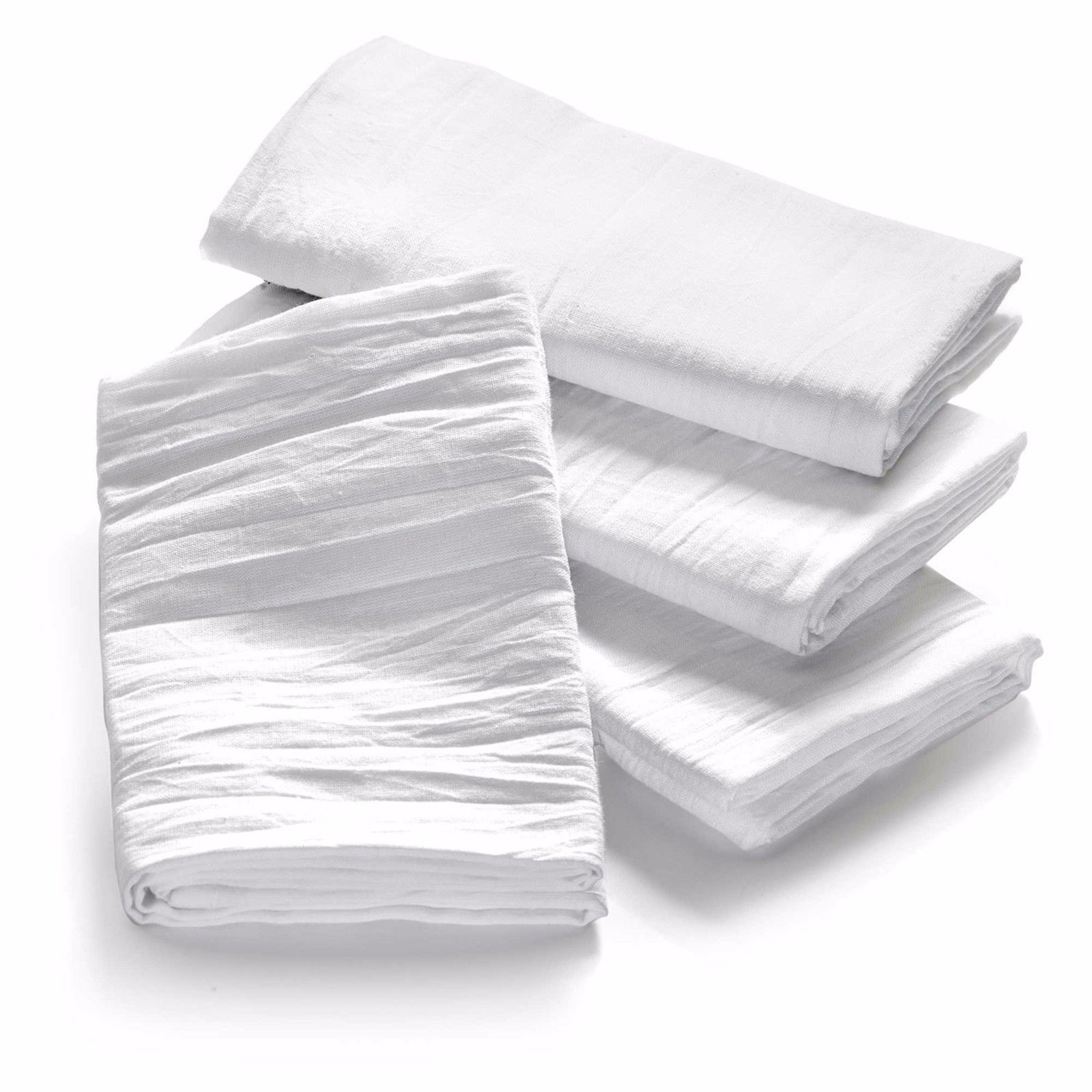 "GHP 6-Pcs 32""x28"" White Flour Sack Lint-Free Absorbent Cotton Cleaning Dish... by"