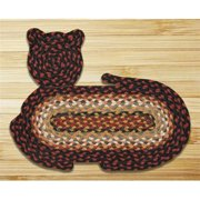 Earth Rugs 63-C319 Burgundy-Mustard-Ivory Cat Rug