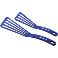 Rachael Ray 2-Piece Tools & Gadgets Nylon Spatula Set, Blue