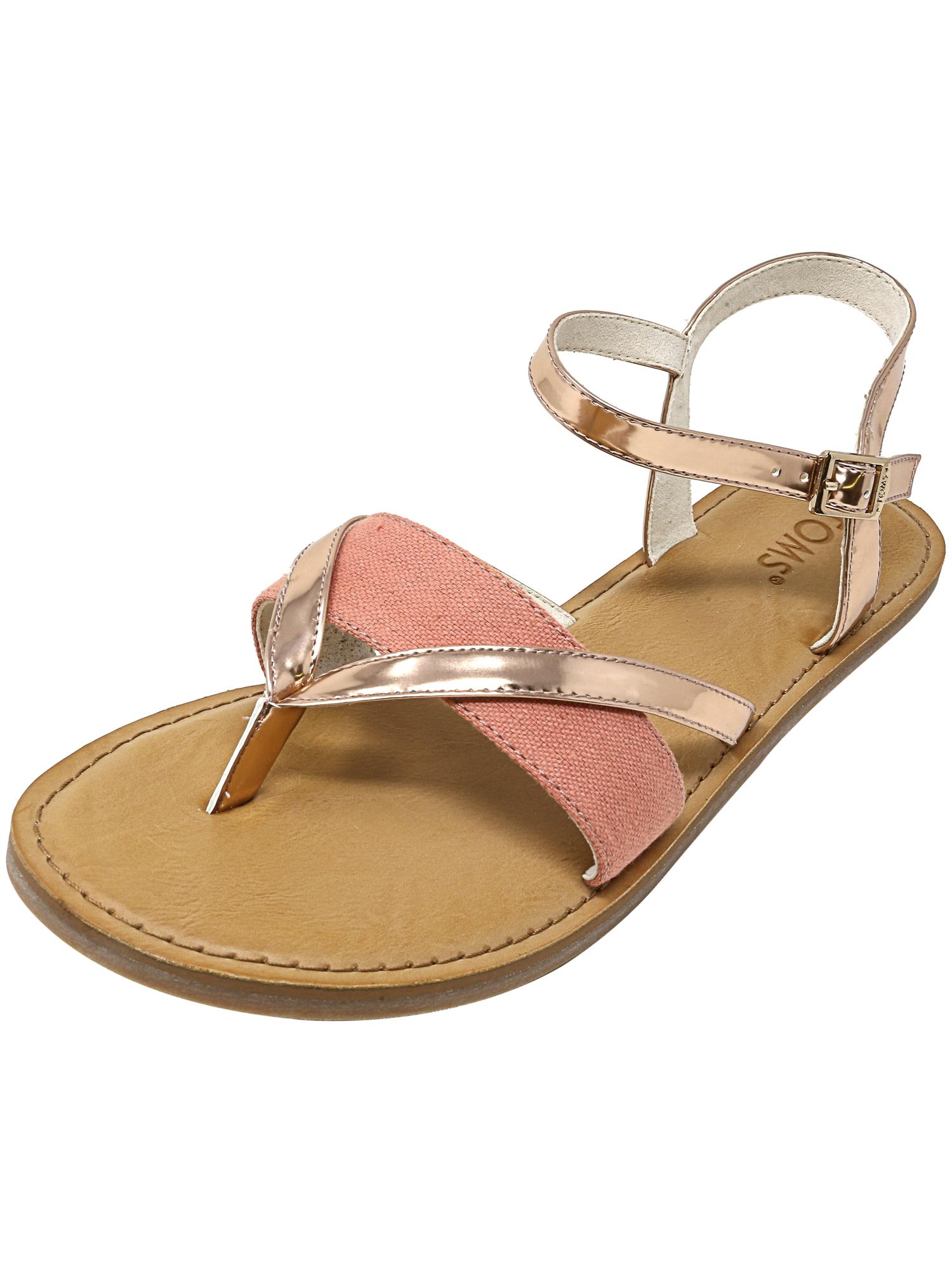 Toms Women's Lexie Specchio And Hemp Rose Gold Sandal - 8.5M