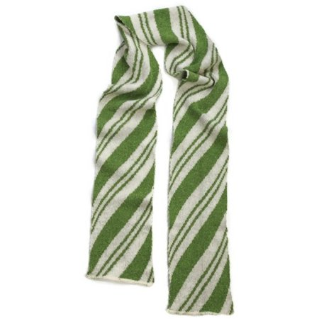 Green 3 Women's Scarf - Spearmint Candy - Candy Cane Scarf