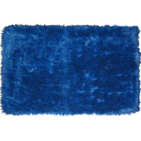 l a rugs flokati dark blue area rug. Black Bedroom Furniture Sets. Home Design Ideas